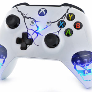 Blue Skull LED Xbox One S