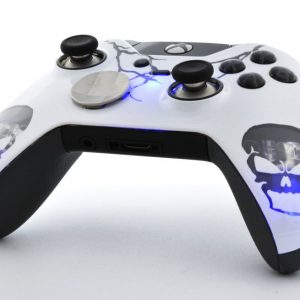 Blue Skull LED Xbox One Elite