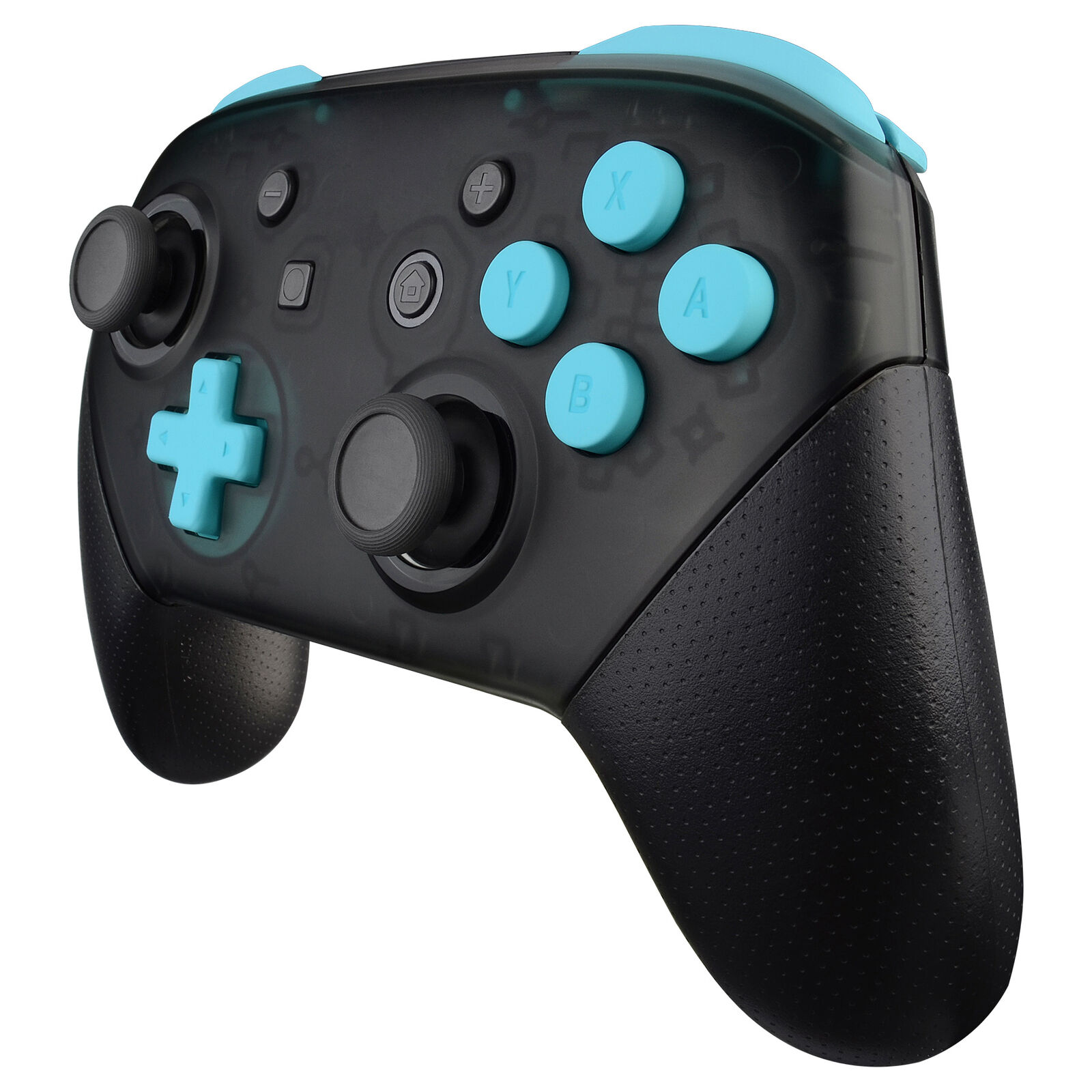 Nintendo Switch Pro Controller Black and Baby Blue Buttons