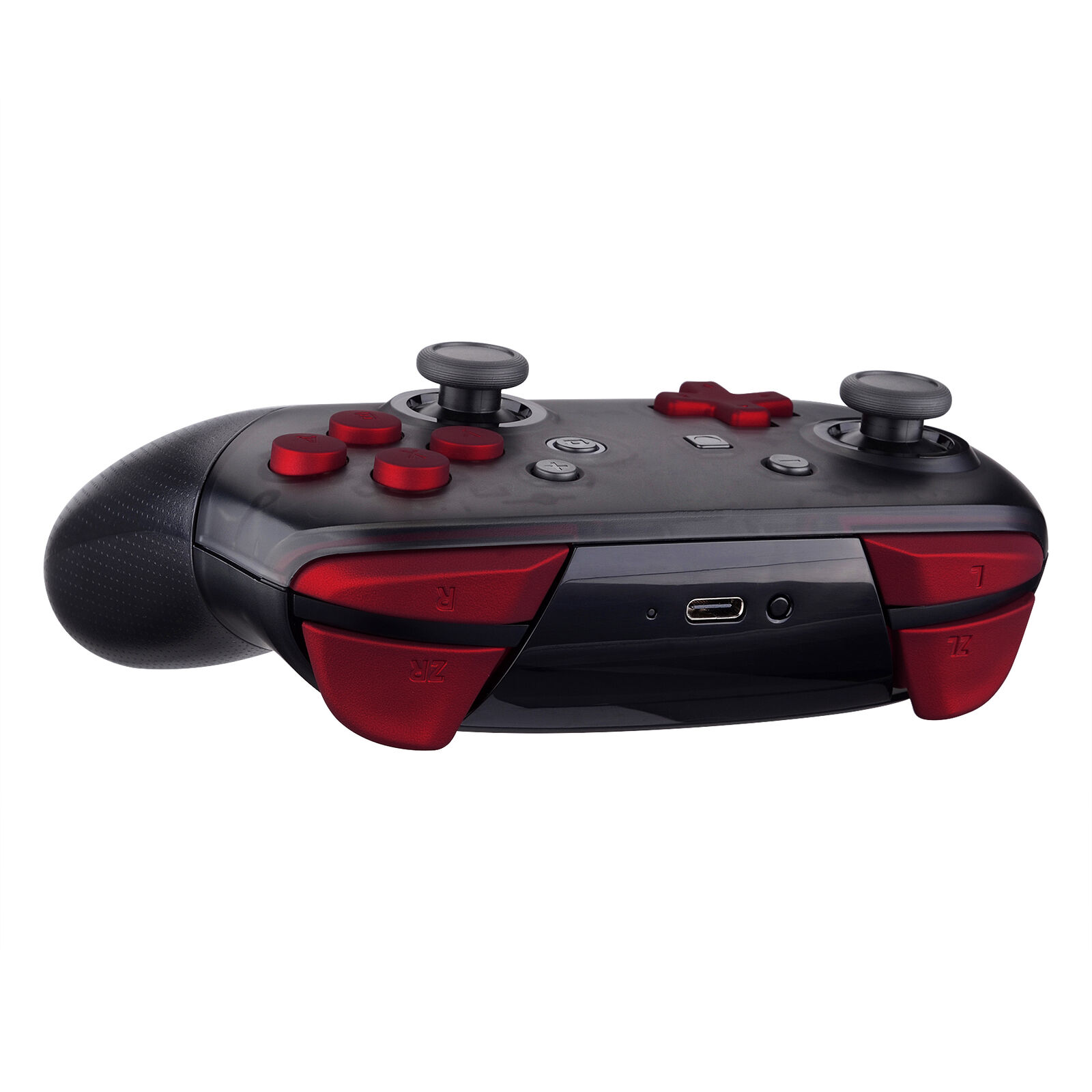 Nintendo Switch Pro Controller Black and Red Buttons