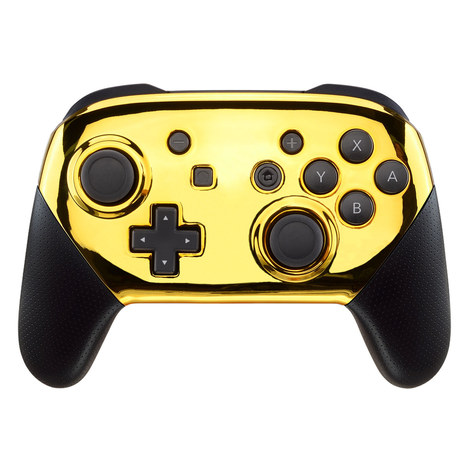 Nintendo Switch Pro Controller Black and Chrome Gold Faceplate