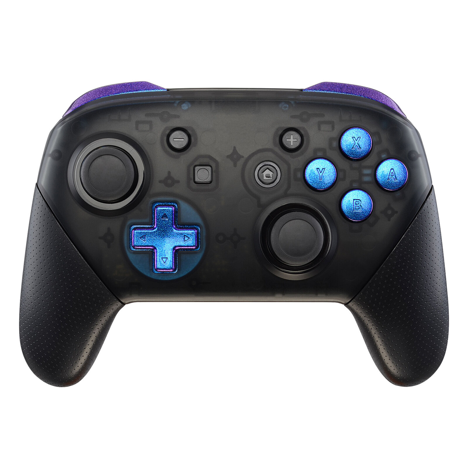 Nintendo Switch Pro Controller Black and Color Changing Buttons