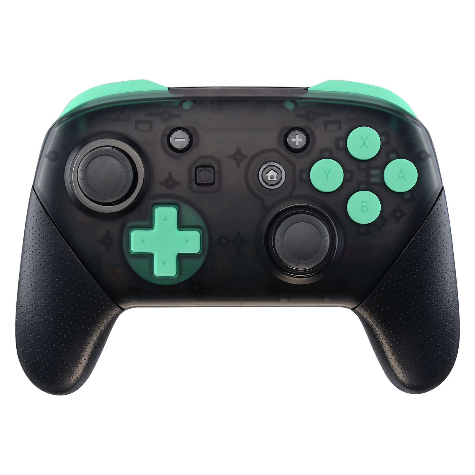 Nintendo Switch Pro Controller Black and Mint Green Buttons