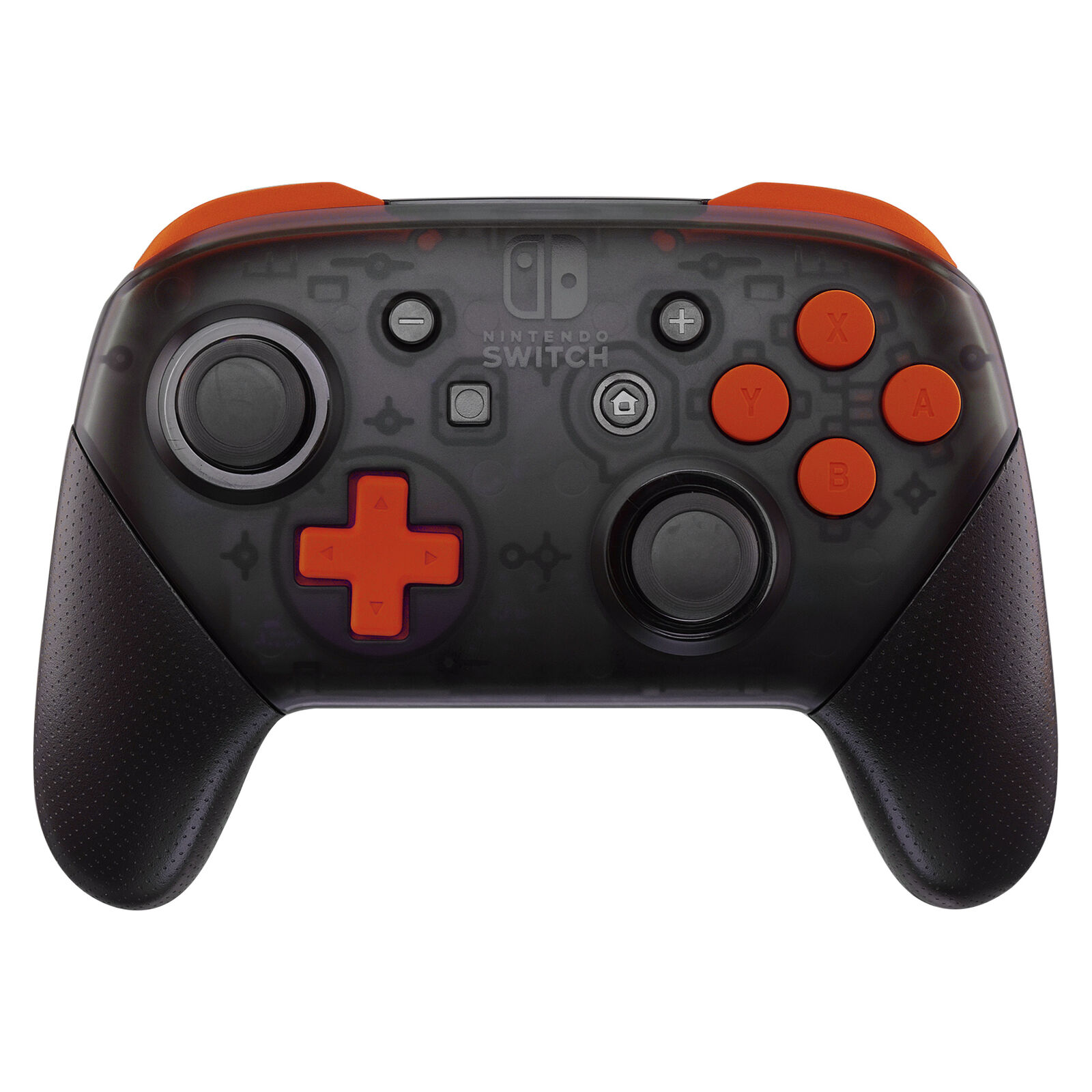 Nintendo Switch Pro Controller Black and Orange Buttons