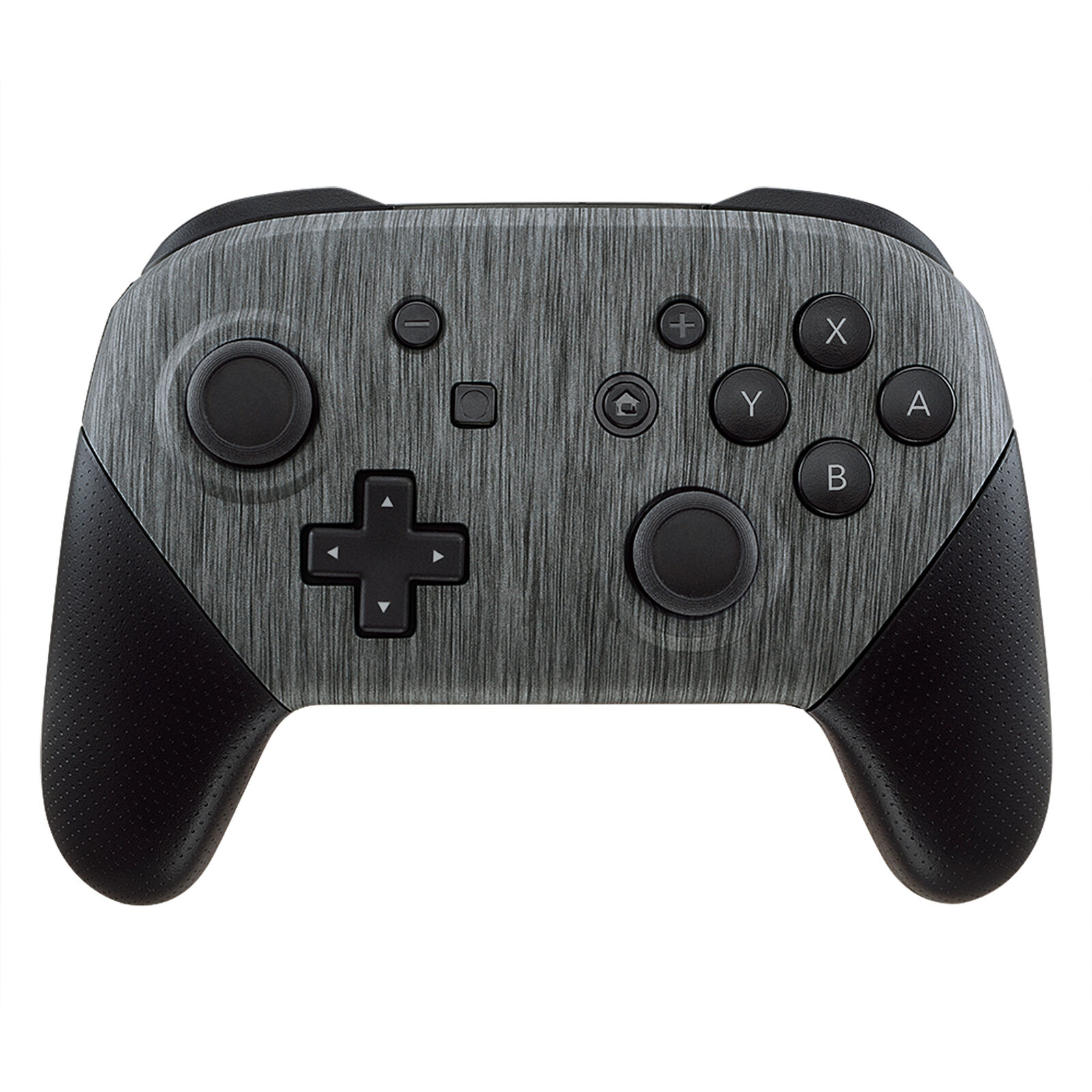 Nintendo Switch Pro Controller Black and Brushed Metal Faceplate