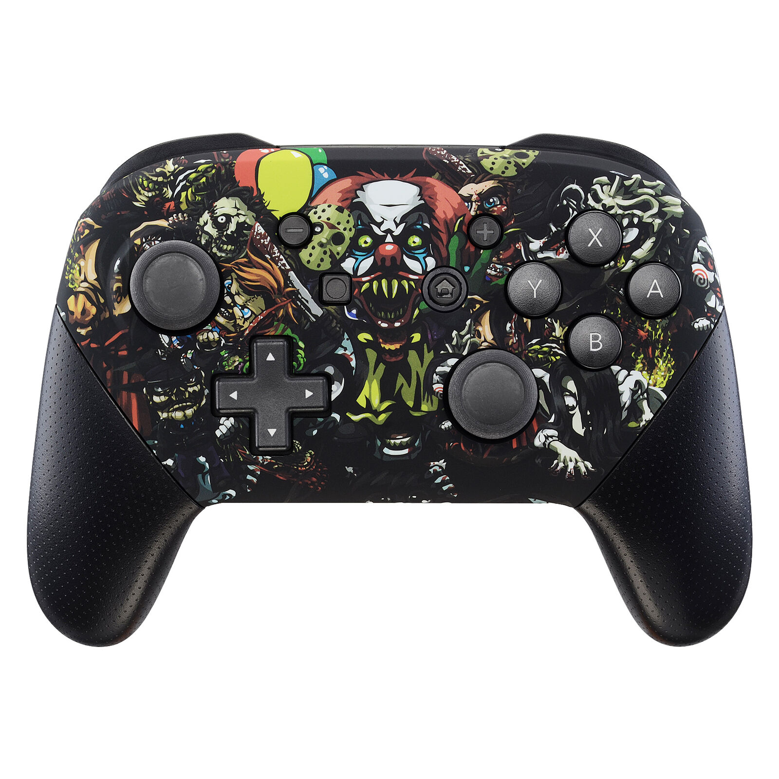 Nintendo Switch Pro Controller Black and Halloween Faceplate