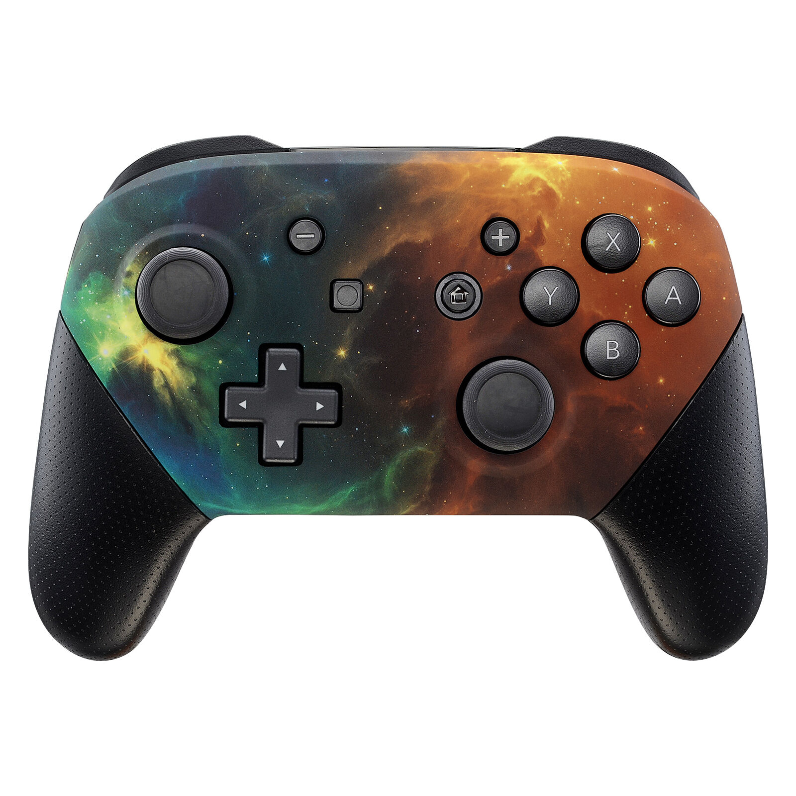 Nintendo Switch Pro Controller Black and Galaxy Faceplate