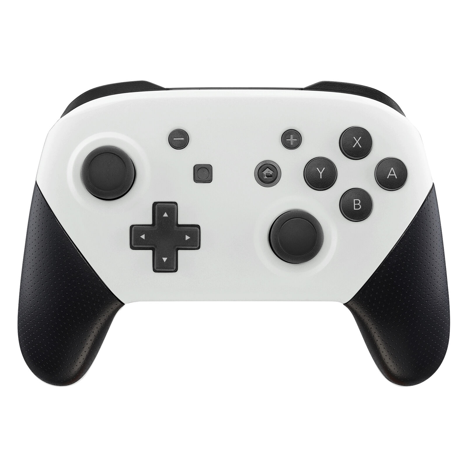 Nintendo Switch Pro Controller Black and Matte White Faceplate