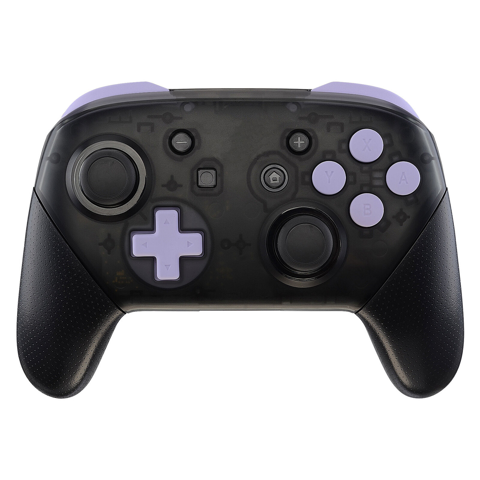 Nintendo Switch Pro Controller Black and Lavender Buttons