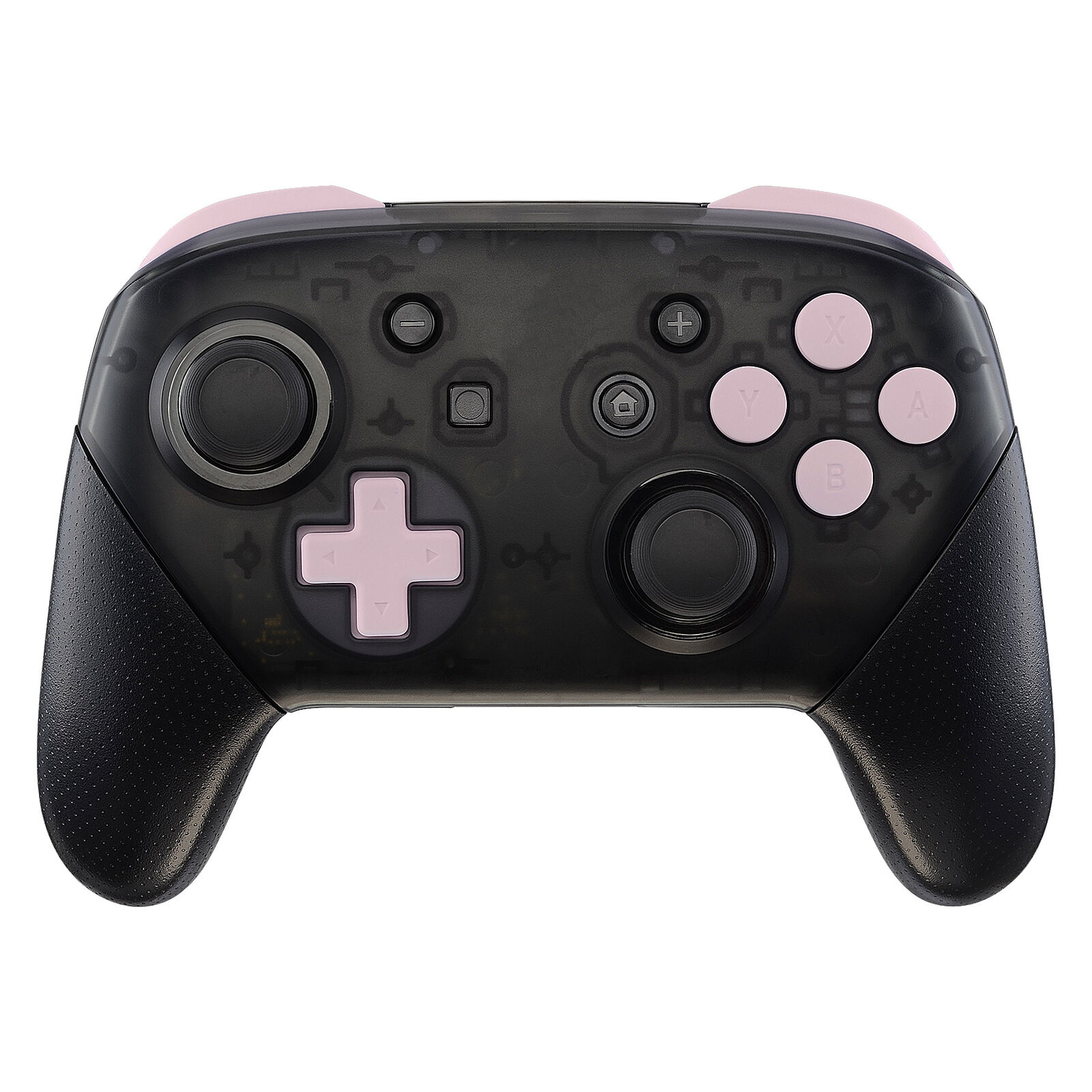 Nintendo Switch Pro Controller Black and Light Pink Buttons