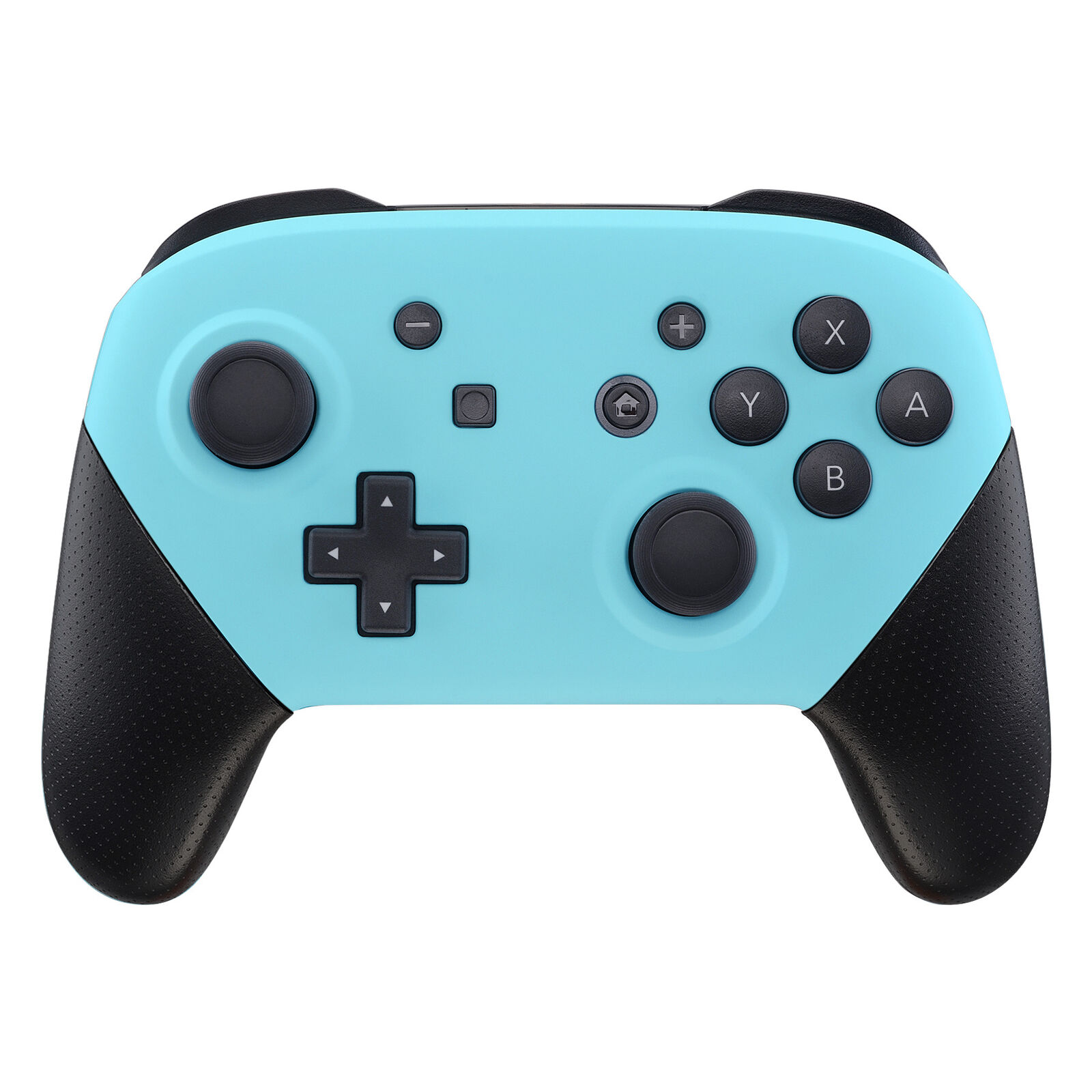 Nintendo Switch Pro Controller Black and Baby Blue Faceplate