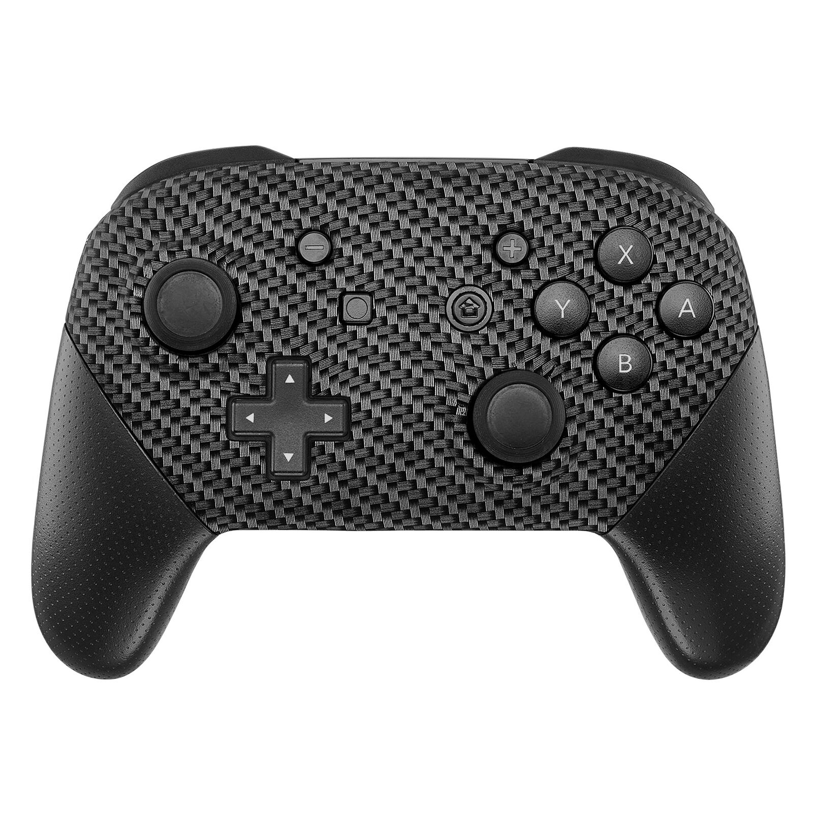 Nintendo Switch Pro Controller Black and Carbon Fiber Faceplate