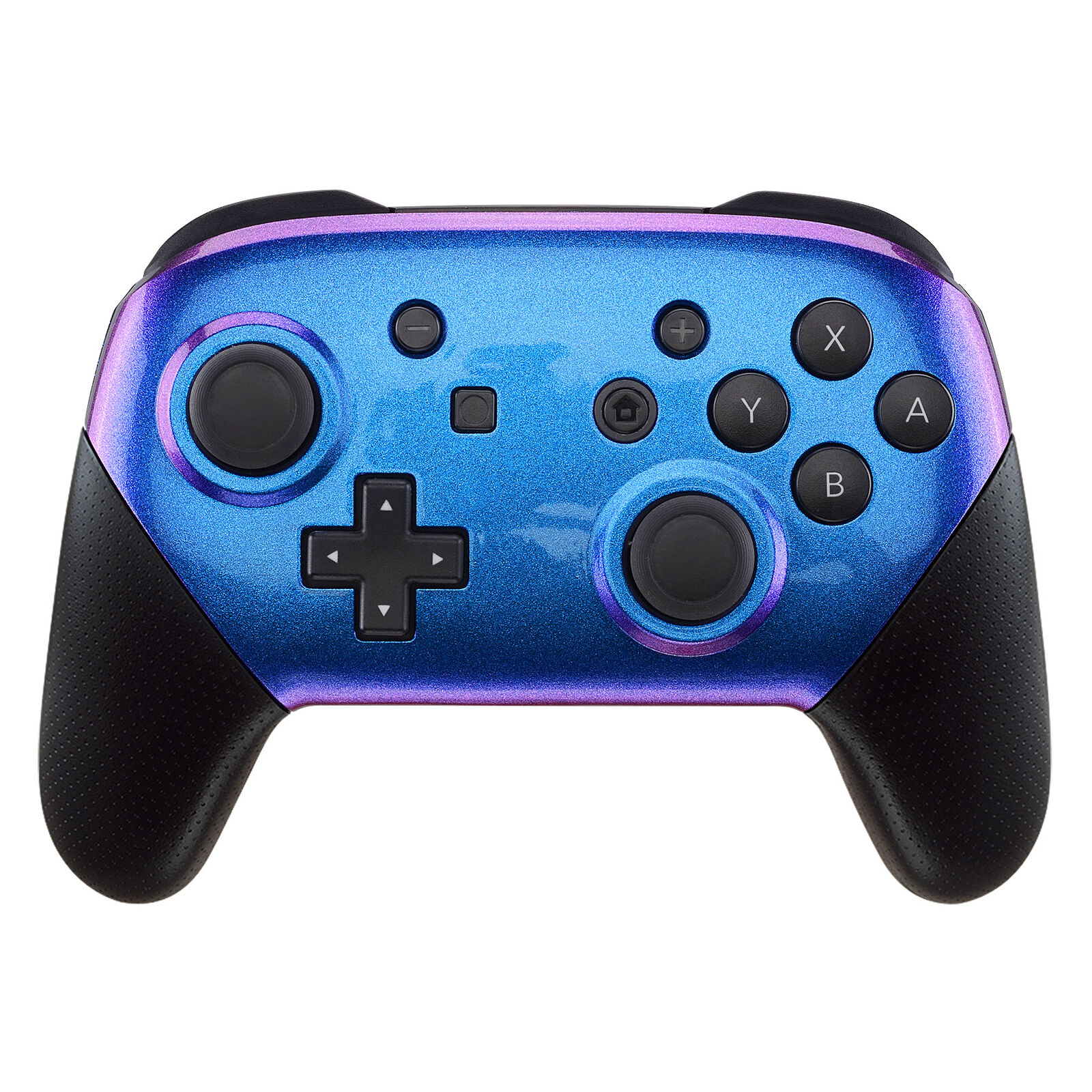 Nintendo Switch Pro Controller Black and Chameleon Faceplate