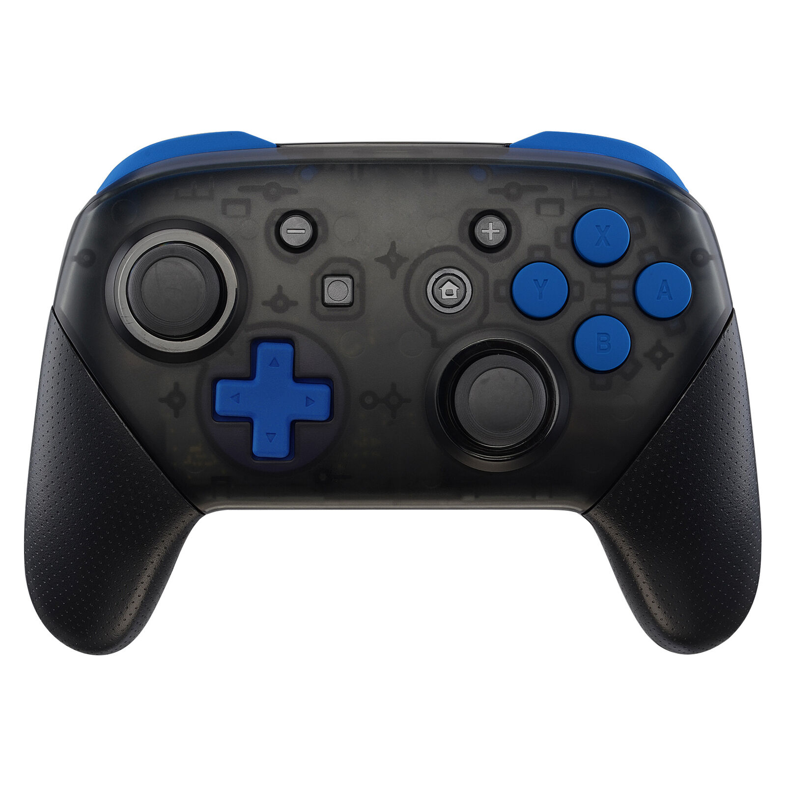 Nintendo Switch Pro Controller Black and Blue Buttons